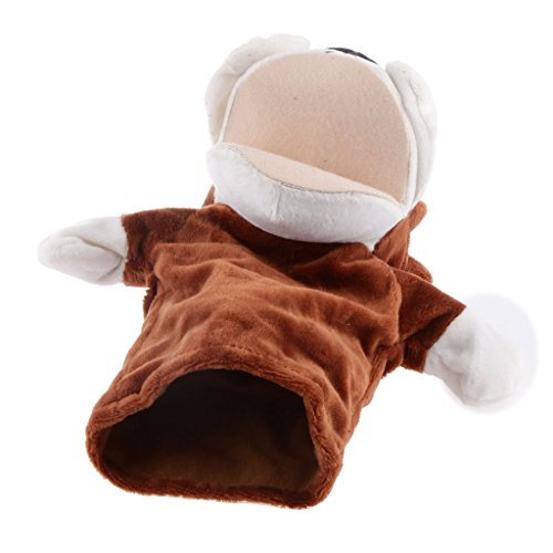 Juegos de Peluche de Animales Marioneta de Mano Perros con Grande Boca