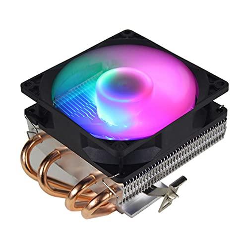 Ventilador de CPU 4 Tubos de Cobre Heatpipe 3Pin PC Ventilador de refrigeración RGB LED Sistema de refrigeración Radiador Disipador...