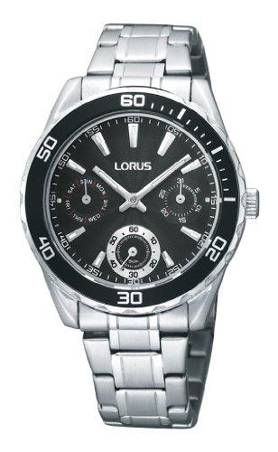 Lorus RP629AX9 - Reloj analógico de mujer de cuarzo con correa de acero inoxidable plateada - sumergible a 50 metros