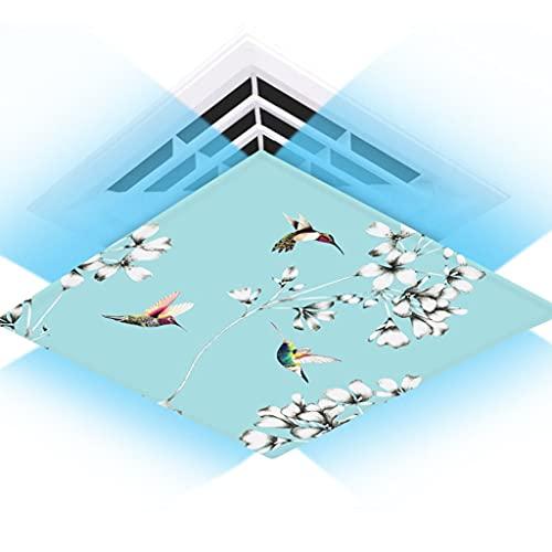 Aire acondicionado central, parabrisas de aire acondicionado universal, parabrisas de aire acondicionado, tela de seda de lona, fácil de instalar, lavable ( Color : Tiffany , Size : 60*60cm )