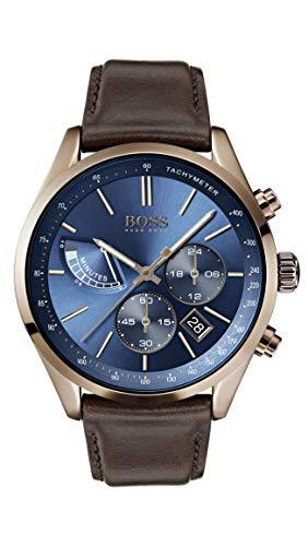 Hugo Boss Orologio Cronografo Quarzo Uomo con Cinturino in Pelle 1513604
