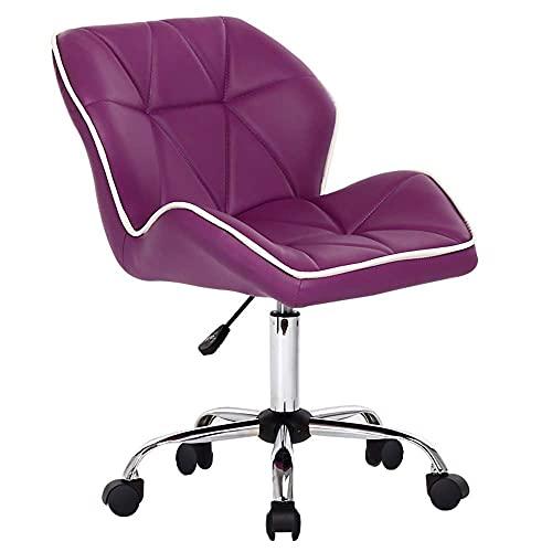 QLIGAH Computer Folder Rotating Bar Chair Desk Armchair, Creative Office Stool Chair, 360 ° Turnable Bar Stool Adjustable Height