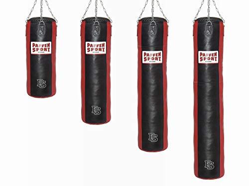 Paffen Sport Star Leder-Boxsack; schwarz/rot; gefüllt; 150cm; 50kg