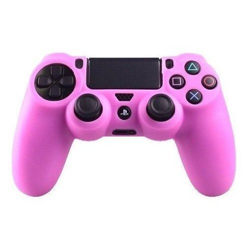 'Silicone rubber soft case Gel skin cover for Sony PlayStation 4 PS4 Controller -Pink '