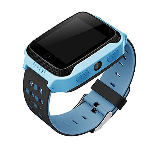 CALMEAN Reloj inteligente GO para niños con GPS y LBS, linterna integrada y foto, color azul
