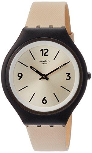 Swatch Reloj Analogico para Mujer de Cuarzo con Correa en Cuero SVUB101