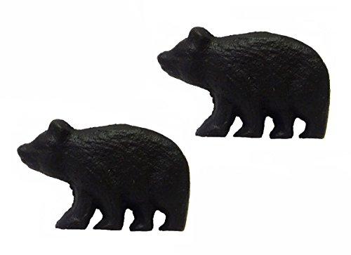 Rustic Black Bear Drawer Pulls (Set of 2 Knobs)