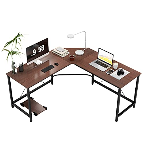DlandHome L-Shaped Computer Desk 59 inches x 59 inches, Composite Wood and Metal,...