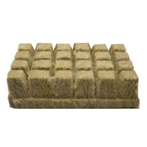Rockwool Starter Plugs, Stonewool Grow Cubes Starter Sheets für Stecklinge Klonen von Pflanzenvermehrung, Seed Starter Plugs Starten von Hydroponic Grow Media Medium für kräftiges Pflanzenwachstum