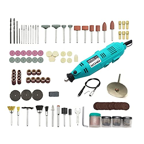 EASONGEE Rotary Tool,Rotary Tool Set with 234pcs,ABS Noiseless Drill Engraver Pen 6 Gears Adjustable Jade Carving Pen Versatile Jade Drill for Metal Ceramics Woodcarving Glass Plastic Processing