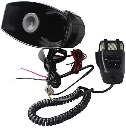 GAMPRO Car Siren Horn 12V 80W 7 Tone Sound Car Siren Vehicle Horn with Mic PA Speaker System Emergency Sound Amplifier
