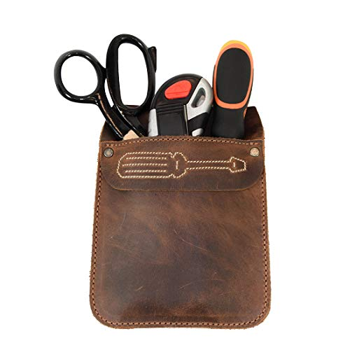 Hide & Drink, Leather Work Pocket Screwdriver Design Organizer for Tools, Jeans Back Pocket Quick Grab Carry Job Tools, Office & Work Essentials Handmade Includes 101 Year Warranty :: Bourbon Brown