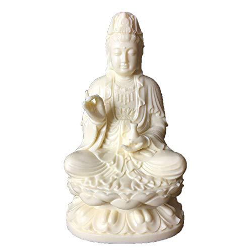 Quan Yin Buddha Sitting on a Lotus Statue, Guanyin, Kwan Yin, Kuanyin, Goddess of Mercy