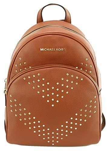 Michael Kors Abbey - Mochila con tachuelas de piel, color Marrón, talla Medium