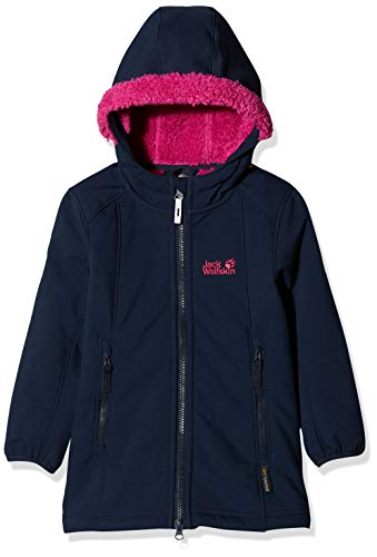 Jack Wolfskin Mädchen KISSEKAT Coat Girls Mantel, Midnight Blue, 152