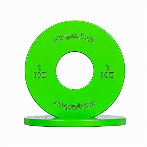 KingsBox Change Plates, Stålmikrobelastningar, Tillverkad i Europa, Fitness, Gym, Träning i Hemmet, Viktträning, Säljs i Par, Olika Färger, Olika Vikter (1)