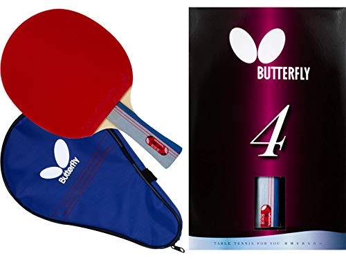 Butterfly 401 Table Tennis Racket Set  1 Ping Pong Paddle – 1 Ping Pong Paddle Case  ITTF Approved Table Tennis Paddle  Ships in Ping Pong Racket Gift Box