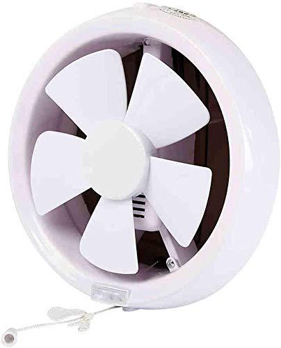 RJSODWL Lámpara de Cocina de baño Redonda, Tubo de Pared de Vidrio Negro, Ventilador de ventilación, Escape de baño, 6 Pulgadas