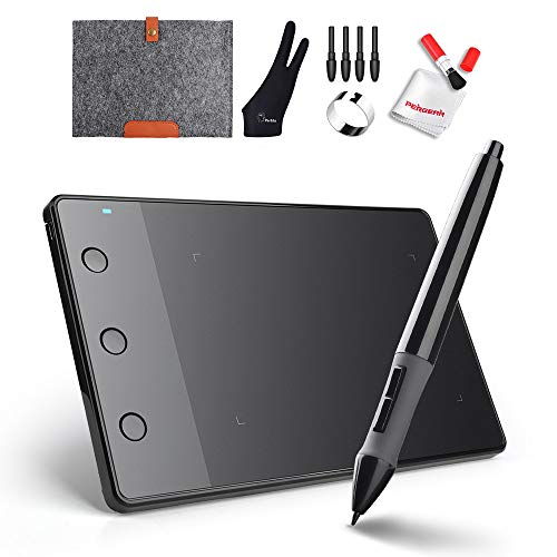 Huion H420 4 x 2.2 Zoll USB Grafik Zeichnung Tablet-Brett mit Digitale Stift 10 Zoll Wolle-Zwischenlage-Beutel Zwei Finger Handschuh