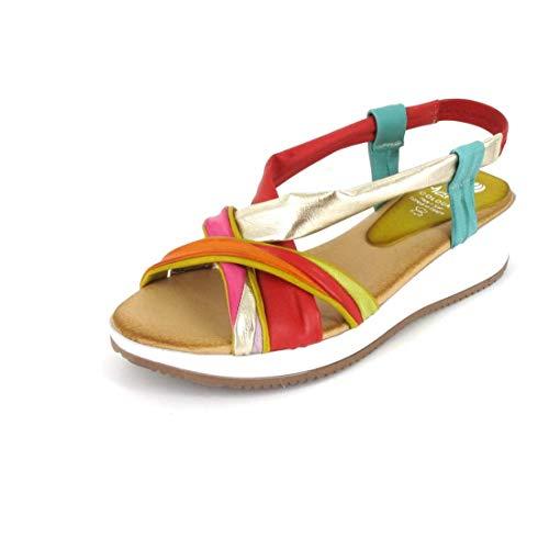 Marila Sandale Größe 37, Farbe: CER.Multicolor
