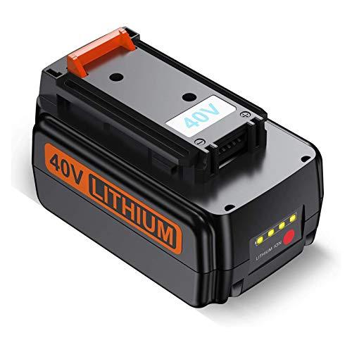 Dutyone 3000mAh Upgraded Replacement 40 Volt MAX Battery for Black and Decker 40V LBX2040 LBXR36 LBXR2036 LST540 LCS1240 LBX1540 LST136W 40Volt Lithium Battery