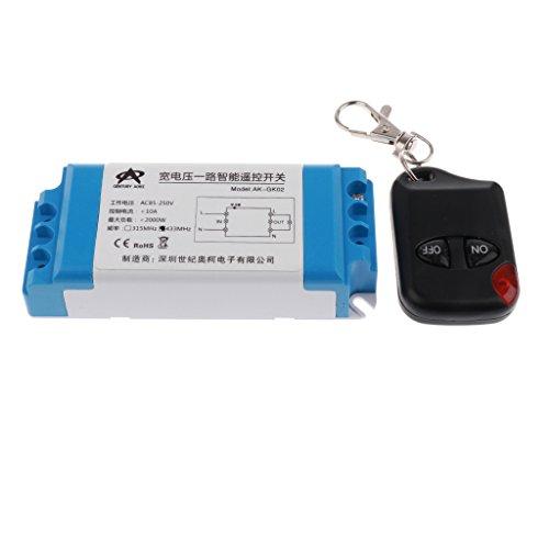 Sharplace 2 Canaux Commutateur De Télécommande sans Fil Récepteur 315mhz Universelle Verrouillage Central de Garage