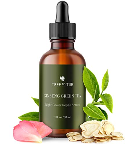 All-In-One Anti Aging Night Serum for Sensitive Skin by Tree To Tub - Hydrating Anti Wrinkle Serum for Face with the NEW Retinol (HPR), Vitamin C, Hyaluronic Acid, Glycolic Acid, Aloe, Tea Tree 1oz
