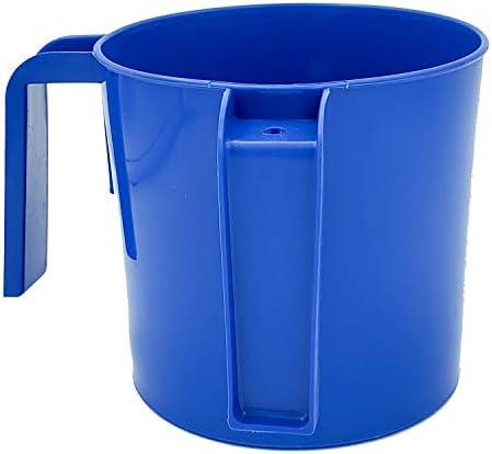 Hand Washing Cup Dual Handle Netilat Yadayim Plastic Wash Cup 4 5 Large Single Blue product image