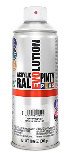 Novasol 166 Pintura spray Acrílica Barniz Mate PINTYPLUS EVOLUTION 520cc Matt varnish M199, Non Concerné, Estándar
