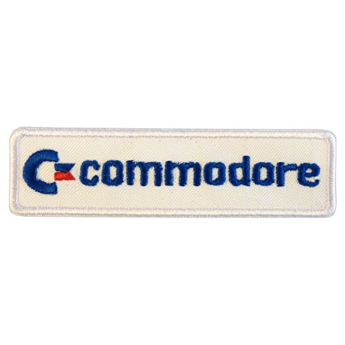 2AFTER1 Commodore Vintage Retro Games Computer Amiga C64 Logo Embroidered Sew Iron on Patch