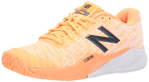 New Balance Women's 996 V3 Hard Court Tennis Shoe, Light Mango/White, 7.5 B US