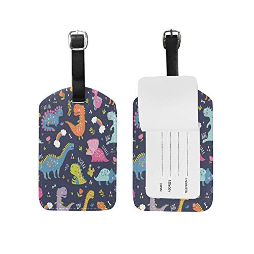 Hipster Watercolor Sailboat Blue Sky Luggage Tag for Baggage Suitcase Bag Travel Label Leather 1 Piece