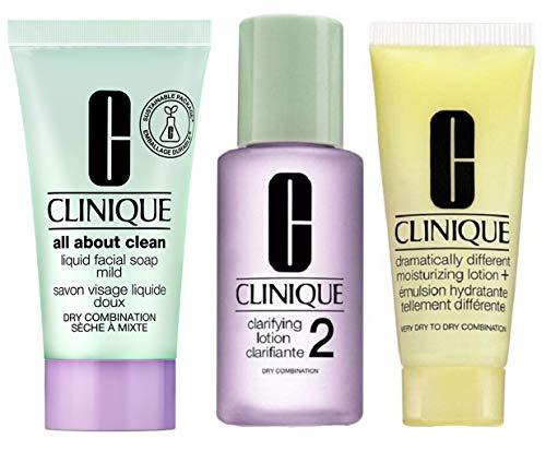 CLINIQUE 3-Step Skincare System Trial Set (Dry/Combination)