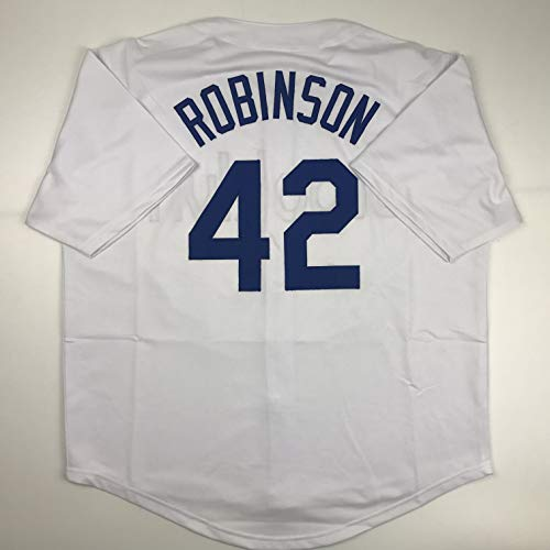 Unsigned Jackie Robinson Brooklyn White Custom Stitched Baseball Jersey Size Men's XL New No Brands/Logos