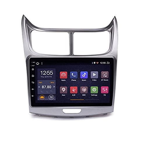 W-bgzsj Coche Radio Estéreo Android 8.1 para Chevrolet Sail 2009-2014 9'LCD Pantalla táctil Autoradio GPS USB FM RDS SWC (Color : 4 Cores, Size : WiFi:4+64G)