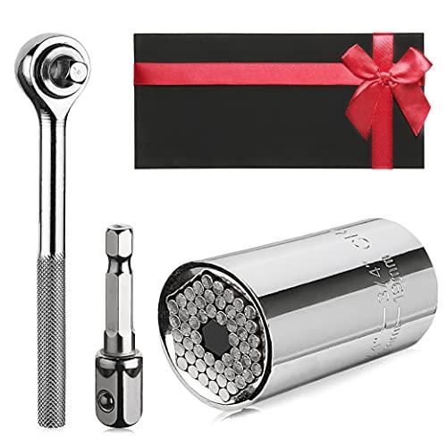 Universal Steckschlüssel, Universalnuss 7-19mm, Universalschlüssel, Domom Mehrfunktionaler Super-Steckschlüssel, Multinuss Ratsche, Werkzeug Geschenke für Männer