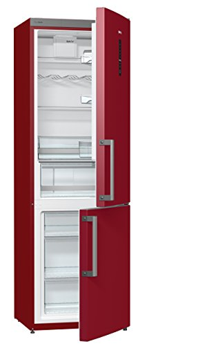 Gorenje RK 6193 LR Kühl-Gefrier-Kombination / A+++ / Höhe 185 cm / Kühlen: 227 L / Gefrieren: 95 L / burgundy / TouchControl-Display / FrostLess / Colour Edition