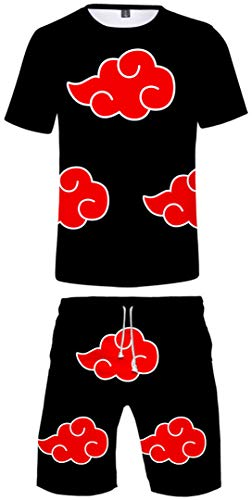 Silver Basic Jungen Naruto japanische Anime Sommer Anzug Sport Unterhemd Kurze Hose Set 2092-S4