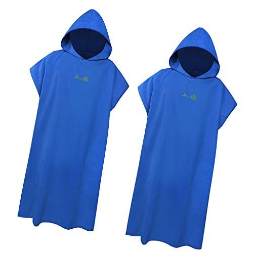 lahomia 2X 109x88 Cm Deportes Al Aire Libre Capa Absorbente de Secado Rápido para Adultos - Azul