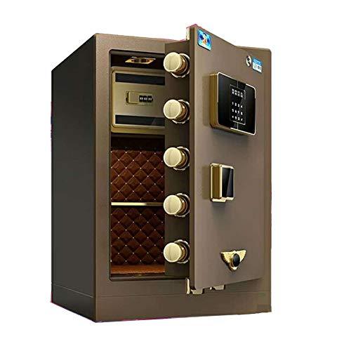 JTRHD Caja de Efectivo Segura Acero de Alta Caja de Seguridad con Teclado numérico de la Huella Digital Conveniente for la Oficina Principal y Hotel para el Hotel de Oficina en casa