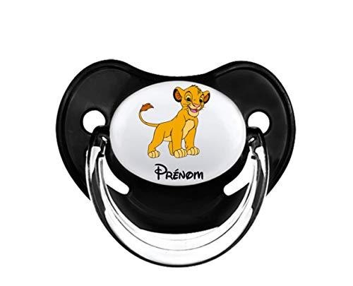 Tetine personalisee avec simba du roi lion et prenom, Naissance Bebe, Tétine Sucette Pour Fille Ou Garçon De 0-6 Mois Ou 6-18 Mois, Idéal Cadeau Pour Futur Papa Ou Maman, Sans BPA Et Conforme Norme CE