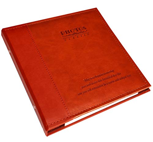 Photo Album Can Hold 3X5, 4X6, 5X7, 6X8 Photos, Family Album, Leather Cover, Waterproof and Dustproof, Hand Made DIY Self-Stick Page Albums