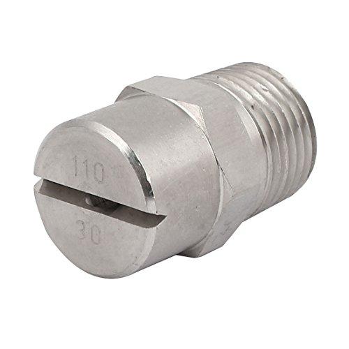 sourcingmap 1/2BSP 3,6mm orifice Dia vaporisation acier Inox 110 Degré embout plat