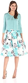 Jessica Howard Women's 3pc Sweater Set with Shantung Skirt