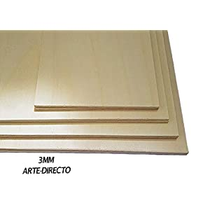 para manualidades bricolaje marqueter/ía contrachapada superior madera maciza 148 mm x 210 mm AUPROTEC 5x A5 Placas de madera 5mm Contrachapado de Abedul