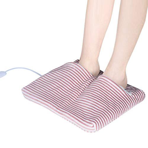 Lukame Scaldapiedi riscaldati elettrici Pad riscaldante USB con tecnologia di riscaldamento rapido(Rosa)