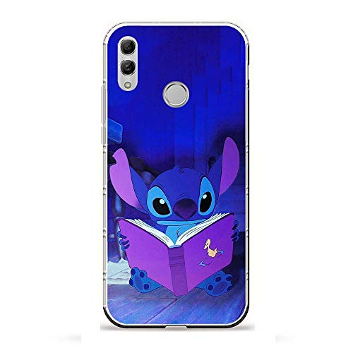 YAOYAN Soft Clear Case Anti-Yellowing Silicone Shockproof Coque for Huawei P Smart 2019/Honor 10 Lite-Cartoon Lilo-Stitch 9