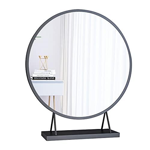 DSHBB Espejo Espejo de Maquillaje de Escritorio Espejo de Escritorio Grande Espejo de pie Espejo de Actriz de Escritorio Espejo de Maquillaje de Escritorio Espejo de Estilo escandinavo,Negro,50cm