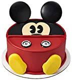 DecoSet® Mickey Mouse Cake Topper, 7-Piece Topper Set with Ears, Eyes, Buttons and Shoes, Made of Food-Safe Plastic
