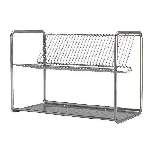 IKEA ORDNING - escurreplatos, acero inoxidable - 50 x 27 x 36 cm